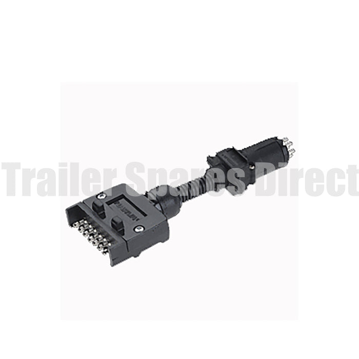 7 pin flat socket to 6 pin small round plug