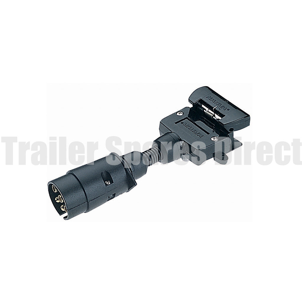adapter 7 pin large round socket - 7 pin flat plug
