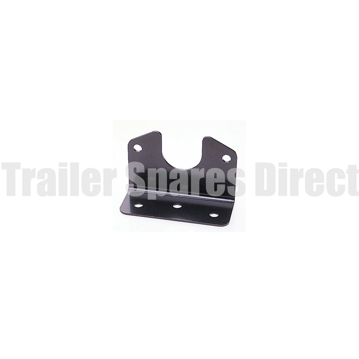 Angled bracket for small round metal socket