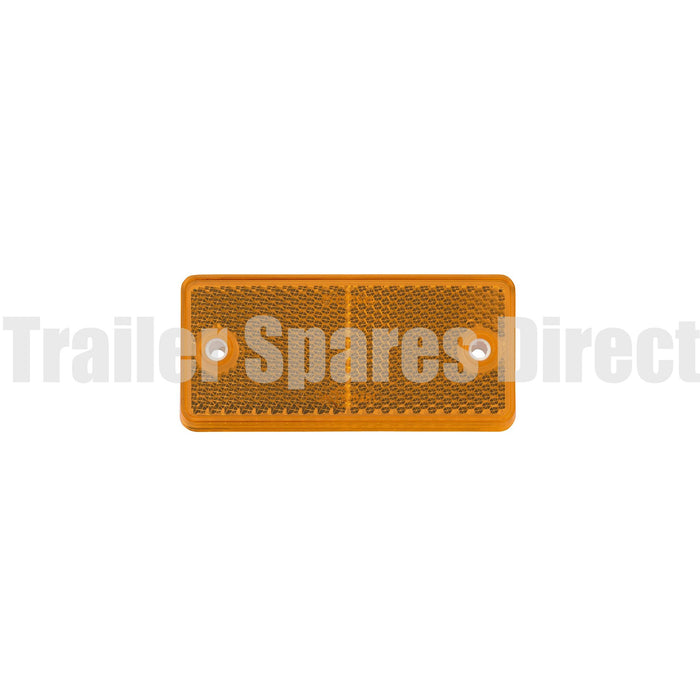 Narva reflector 90 x 40mm rectangle bolt-on - Amber