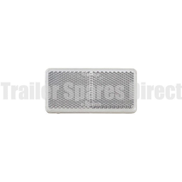 Narva reflector 94 x 44mm rectangle adhesive - Clear