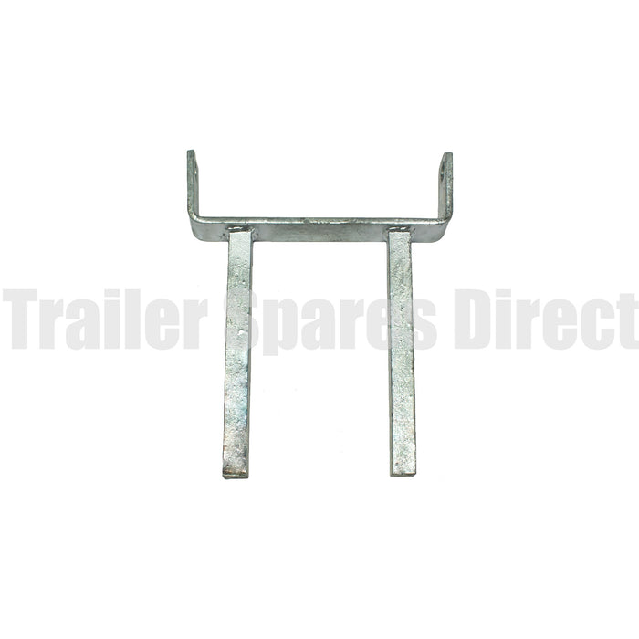 8 inch twin stem flat roller bracket - hole 16mm spindle