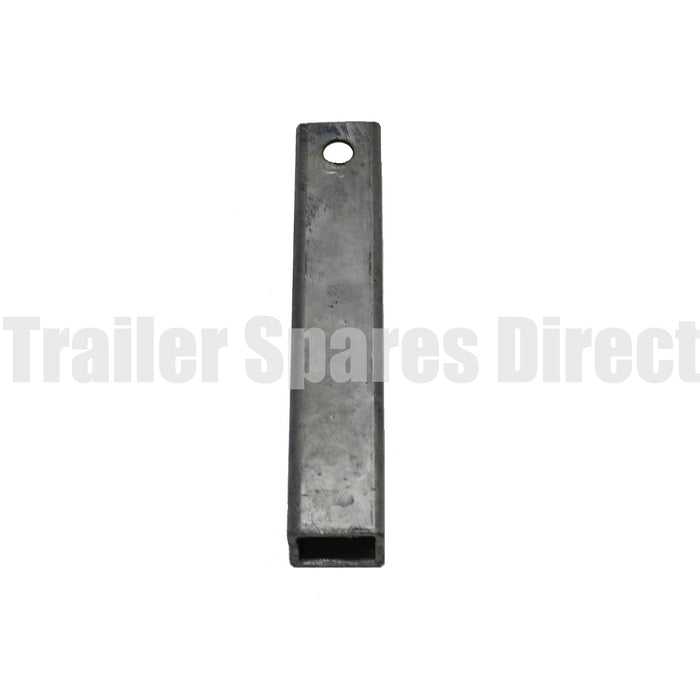 8 inch square wood drilled yoke 40mm stem galvanised