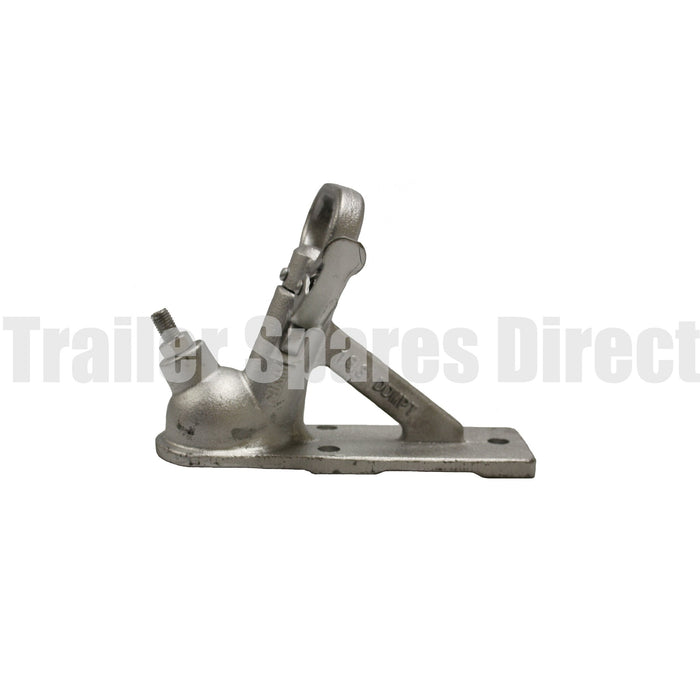 50mm trailer coupling 3 bolt hole rating 2000kg - zinc finish
