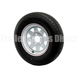 Assembled rim and tyre 14 inch Ford white with light truck tyre