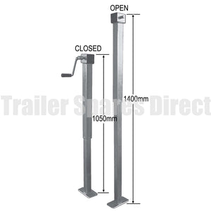 Side winding adjustable stand with loose handle - 1.4m height