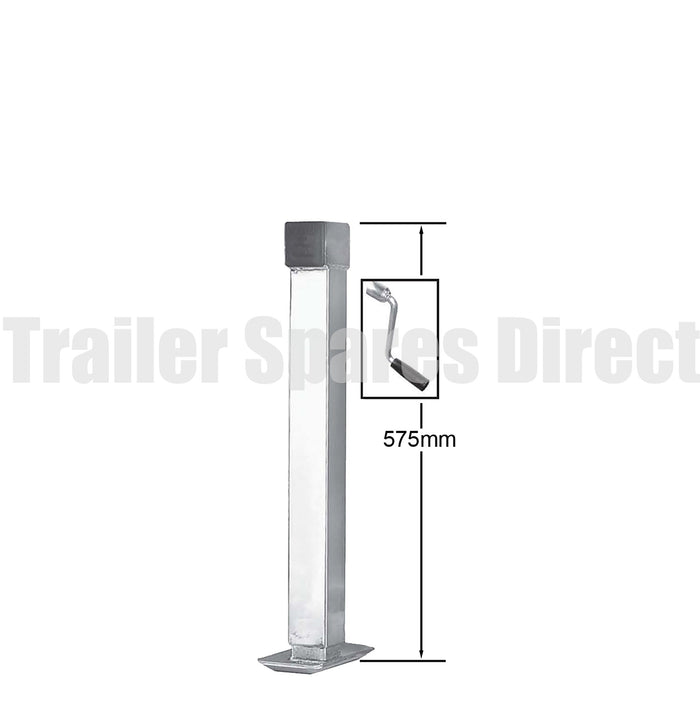 Side winding adjustable stand with loose handle - capacity 1000kg