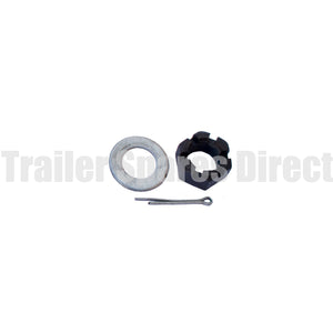 Axle nut washer and split pin kit