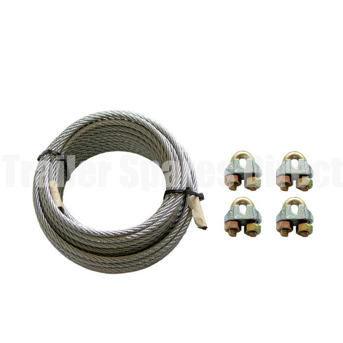 7 metre trailer brake cable wire kit