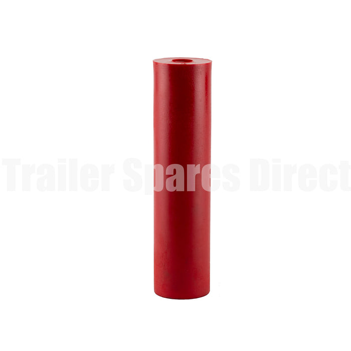 Flat bilge roller 12 inch red poly