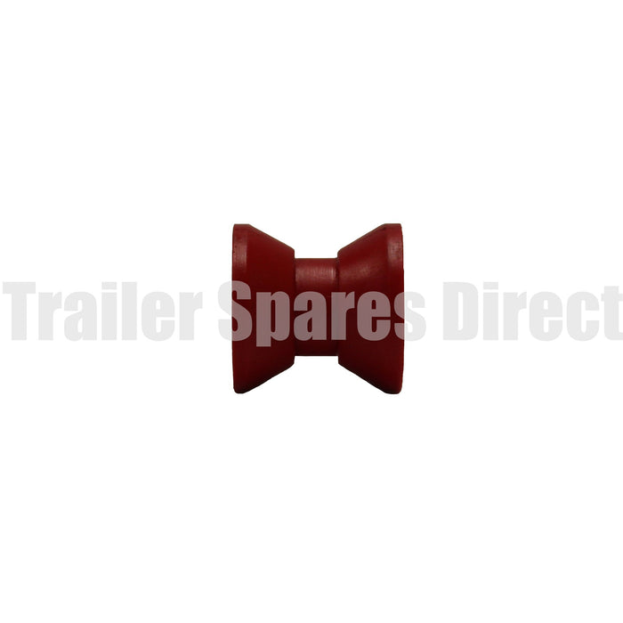 Bow roller 2 inch red poly - 12mm centre