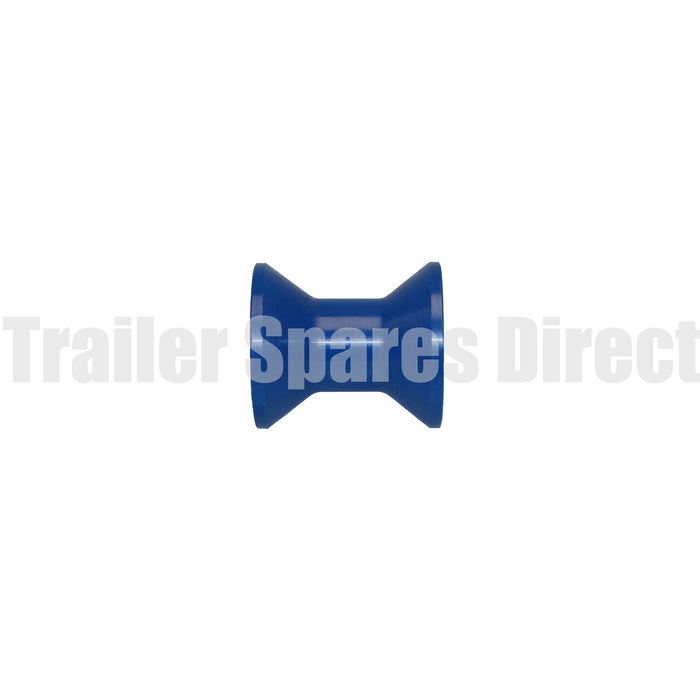 Bow roller 3 inch blue nylon - 17mm centre
