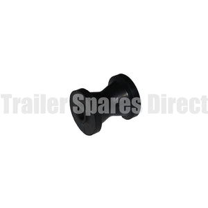 bow roller 3 inch black rubber