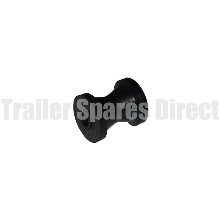 Bow roller 3 inch black rubber - 17mm centre