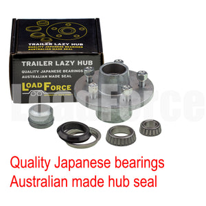 LoadForce 6 inch lazy hub assembly Commodore 5 stud LM (Holden) bearing - galvanised