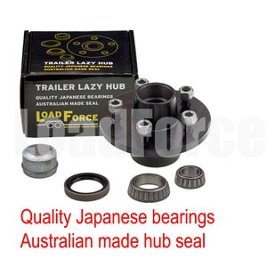 LoadForce 6 inch lazy hub assembly Commodore 5 stud LM (Holden) bearing