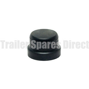 black rubber dust cap for Velox-style hubs