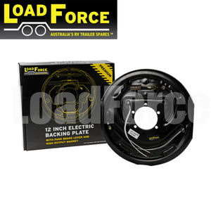LoadForce 12 inch left hand electric backing plate assembly with park brake