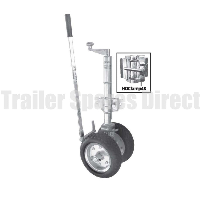 10 inch 'EASYMOVER' ratchet driven twin jockey wheels 900kg load