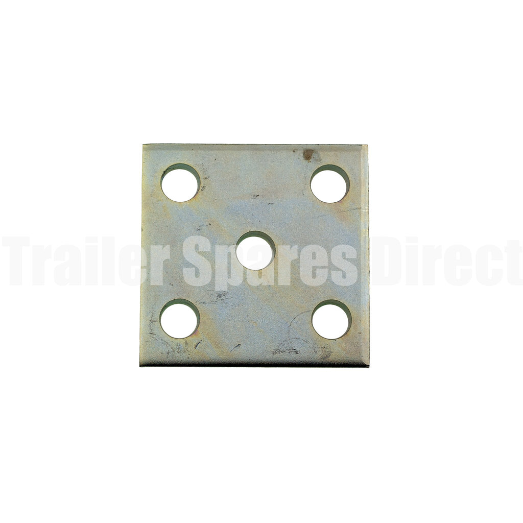 U-bolt Fish Plate Galvanised for 45mm wide springs and 5/8 inch U-bolts