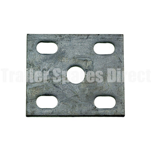 U-bolt Fish Plate 8mm Galvanised for 45mm Wide Trailer Springs