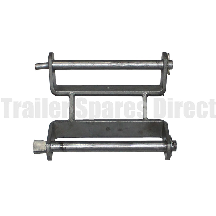 8 inch tandem roller bracket assembly with pins galvanised heavy-duty