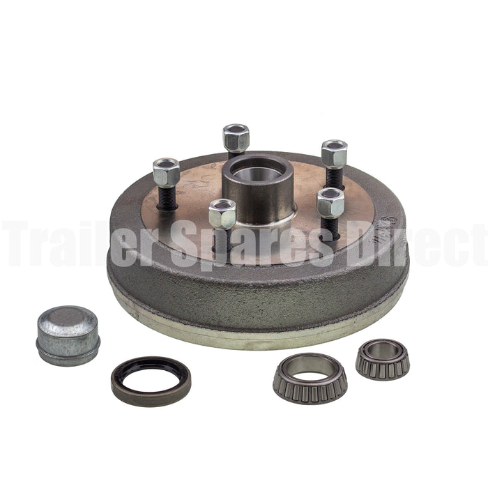 Hub drum 9 x 1.75 inch Land Rover 5 stud with LM (Holden) bearing
