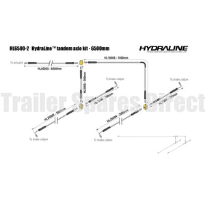 Hydraline kit 6500mm tandem axle diagram