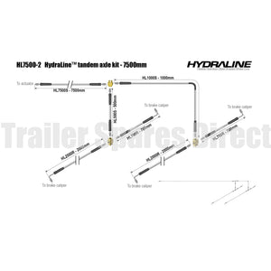 Hydraline kit 7500mm tandem axle diagram