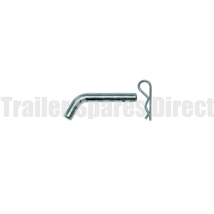 Hitch pin with R clip