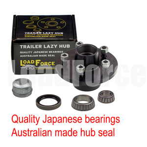 LoadForce 6 inch lazy hub assembly HQ 5 stud LM (Holden) bearing