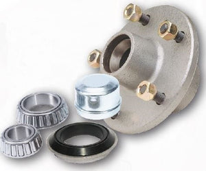 5.5 inch (140mm) Lazy hub assembly galvanised HT stud LM bearing for 8 inch alloy rims