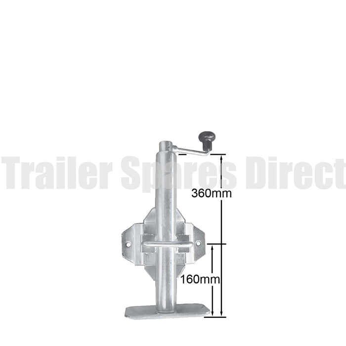 Top winding adjustable stand with swivel/swing up - capacity 650kg