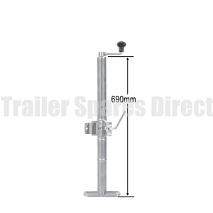 Top winding adjustable stand extended length with clamp