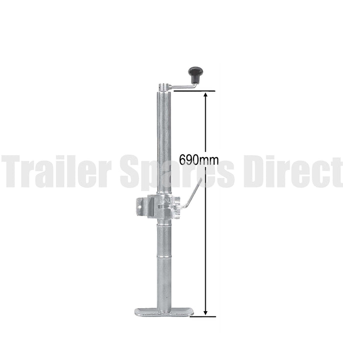Top winding adjustable stand extended length with clamp - capacity 650kg