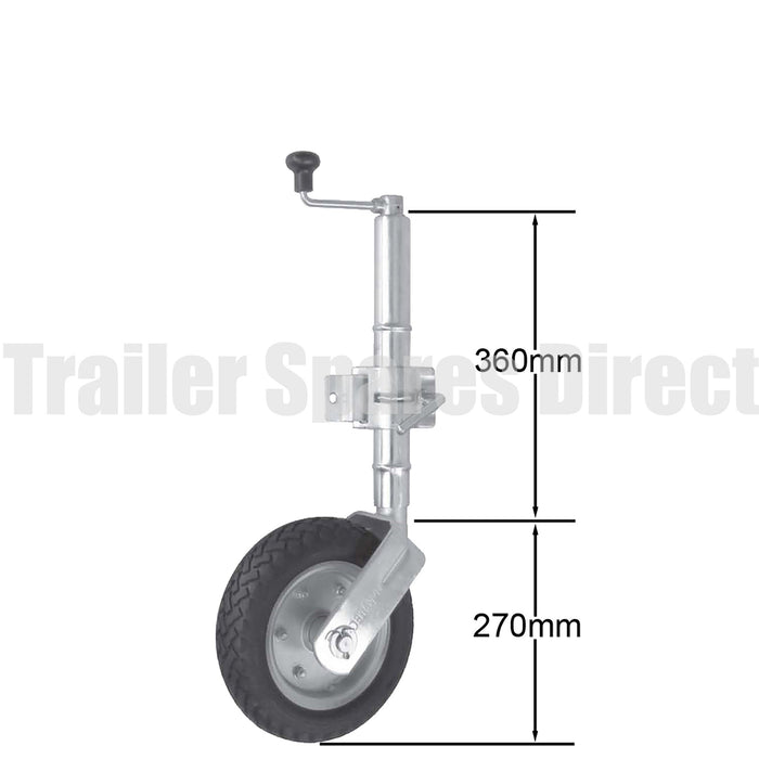 10 inch jockey wheel clamp-on 650kg load