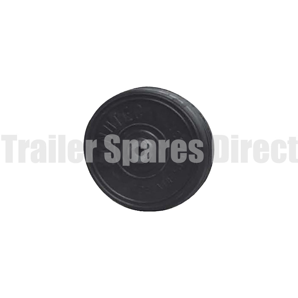 8inch solid rubber wheel 16mm steel bore