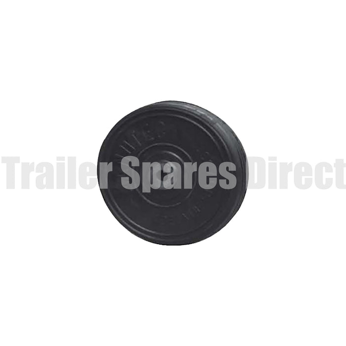 8 inch (200mm) solid rubber wheel - 16mm steel bore