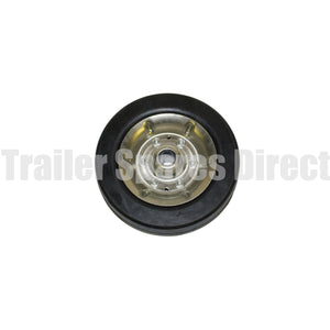8inch solid rubber wheel steel rim 22mm shaft