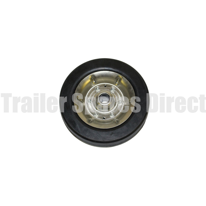 8 inch (200mm) solid rubber wheel with steel rim - 22mm shaft