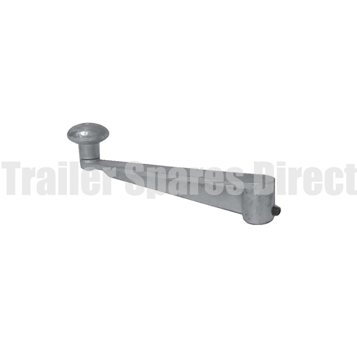 Jockey wheel extra-long handle - heavy-duty roll pin