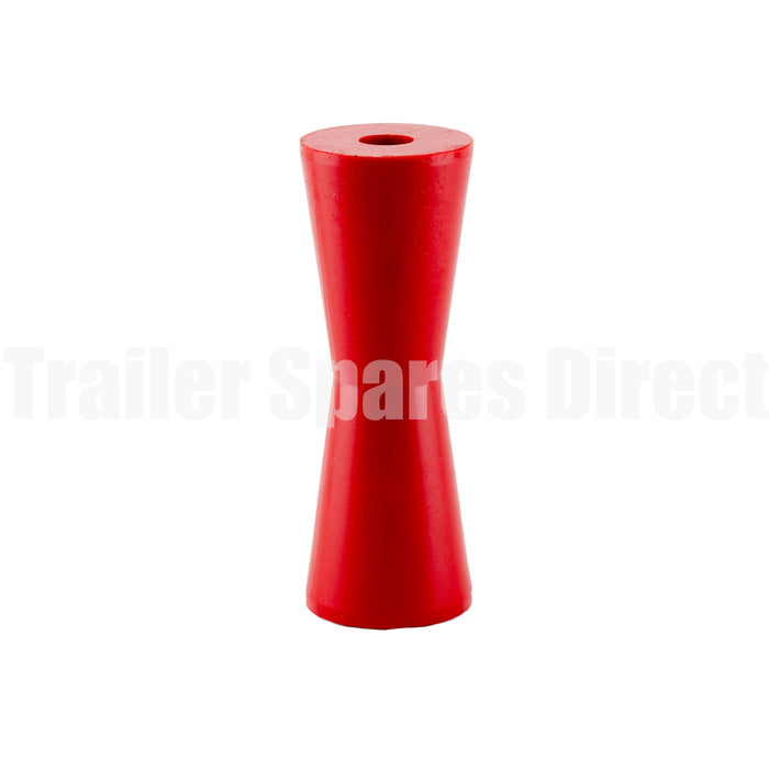 Keel roller concave 8 inch red poly - 22mm centre