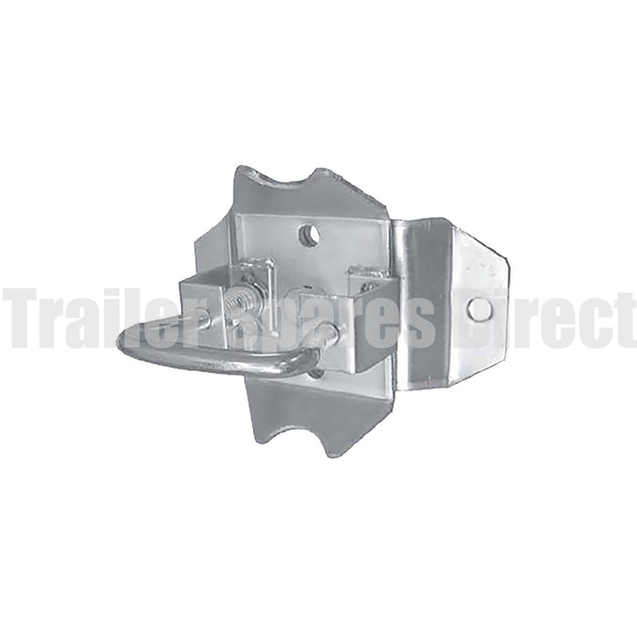 Swing-up bracket bolt or weld-on for jockey wheel and stands with 48mm tube