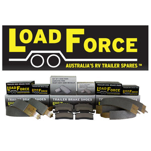 LoadForce 12 x 2.25 inch standard Australian electric brake shoes set of 4