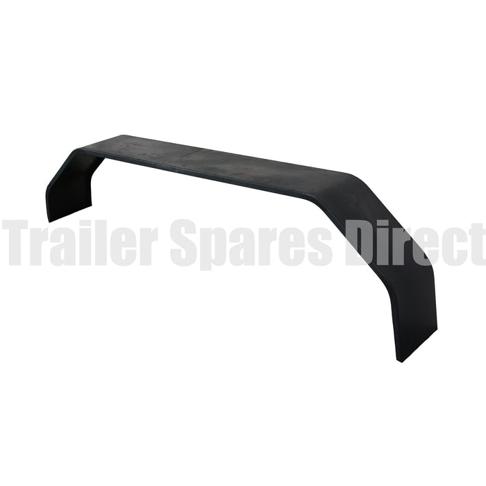 Tandem mudguard 1650mm x 9 inch black steel