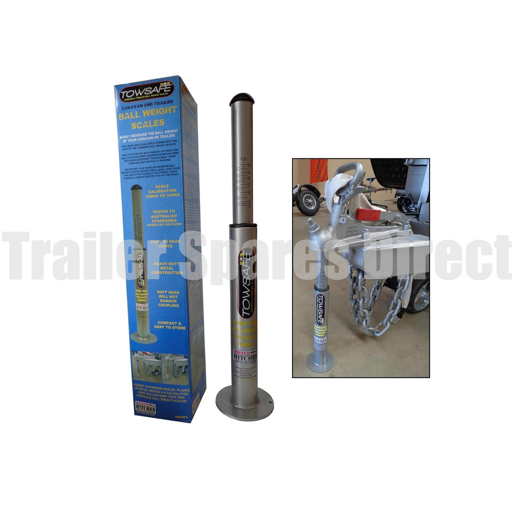 Tow ball weight scales - range 100kg to 350kg