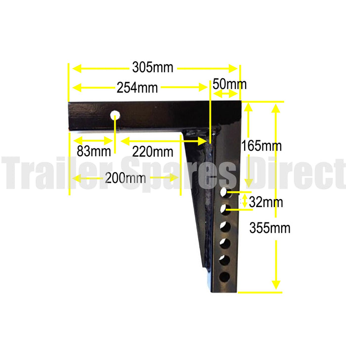 Weight Distribution extra long shank 355mm - Mister Hitches
