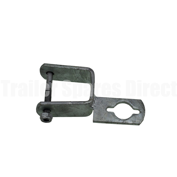 Motor support key way clamp-on 2 x 2 inch