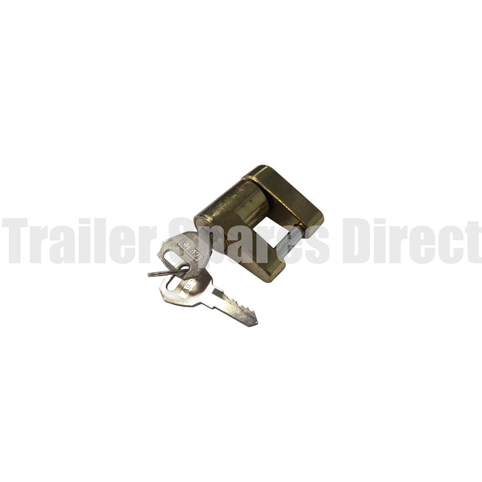 Coupling release lever lock with 2 keys - spare wheel lock