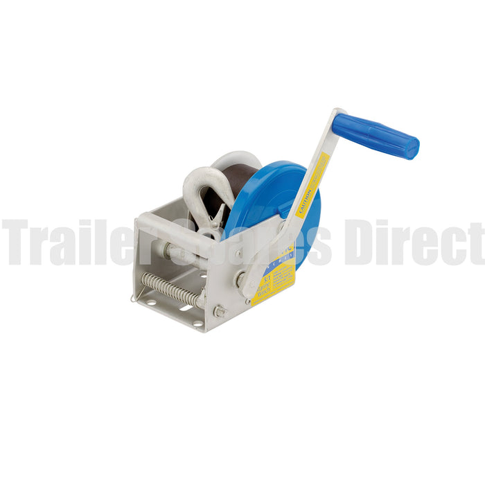 Marine winch 5:1 - 6m webbing with snap hook